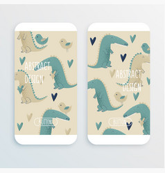 crocodile design vector image