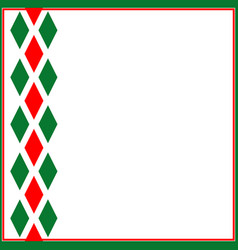 Decorative ornament ribbon italian symbols vector