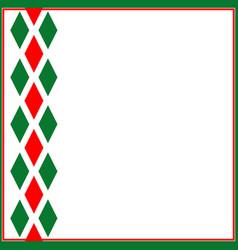 decorative ornament ribbon italian symbols vector image