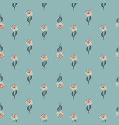 Ditsy seamless pattern with field flower simple vector