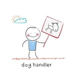 Dog handler vector
