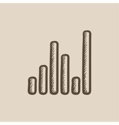 Equalizer sketch icon vector