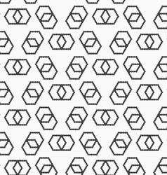 Flat gray with hexagonal infinity shaped vector image