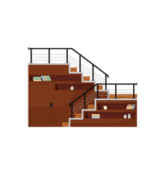Functional home staircase isolated staircase vector