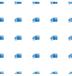 gifts icon pattern seamless isolated on white vector image