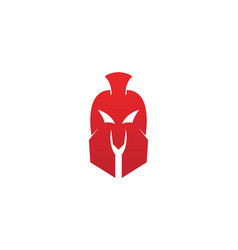 gladiator spartan helmet logo template icon vector image