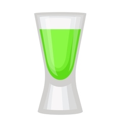 Green alcholol cocktail vector image