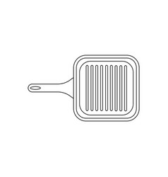 Grill pan coloring pages vector