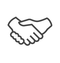 Handshake thin line icon vector