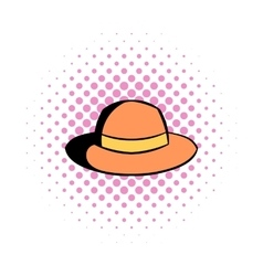 Hipster hat comics icon vector image