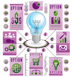 Infographics template idea light bulb concept vector