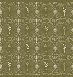 intricate plant damask arabesque seamless vector image