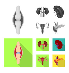 isolated object of biology and scientific logo vector image