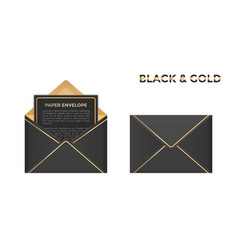 Isolated opened and closed black and gold vector