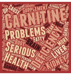 L Carnitine Deficiency text background wordcloud vector
