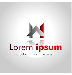 letter wa line logo design creative minimal vector image