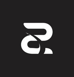 Letter z motion object logo vector