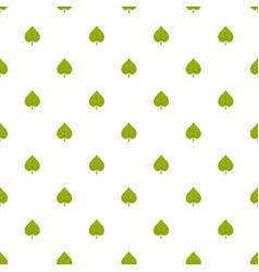 Linden leaf pattern seamless vector
