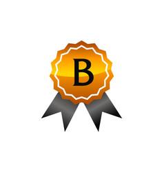 Logo quality letter b vector