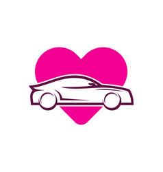 love automotive logo icon design vector image