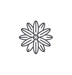 magnolia line icon concept magnolia flat vector image