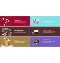 Management digital marketing srartup planning vector image