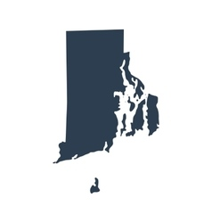 Map of the US state Rhode Island vector