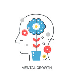 Mental growth concept vector