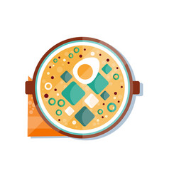 miso soup dish of traditional japanese cuisine vector image