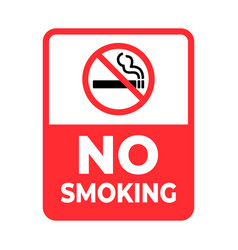 No smoking sign smoking not allowed vector