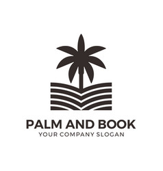 palm and book abstract logo design vector image