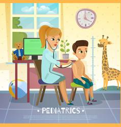 Pediatric department vector