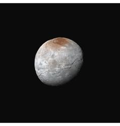 realistic Charon moon vector image