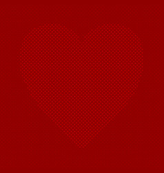 red heart shaped background from hearts - pattern vector image