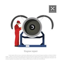 Repair and maintenance of aircraft vector