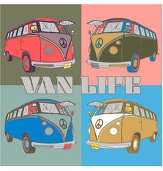 retro van life vector image