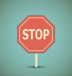 Road stop sign vector