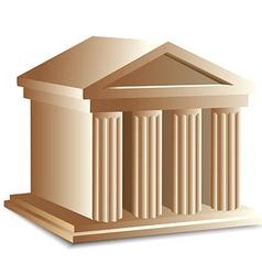 Roman building vector image