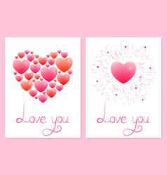 Romantic heart vector