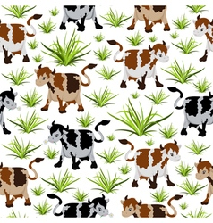 Seamless cow pattern vector