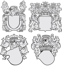 Set of aristocratic emblems No11 vector
