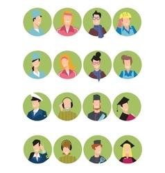 Set of avatars people vector image