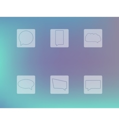 Set of chat outline icons speech bubbles vector image