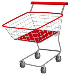 Shopping cart on white background vector