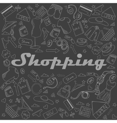 Shopping chalk vector image