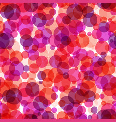 simple seamless pattern with red bubbles vector image