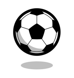soccer football sport ball logo line 3d icon vector image