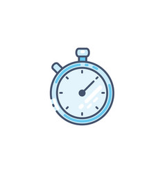 Stopwatch icon timer symbol isolated on vector