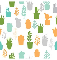 Succulent seamless pattern vector image