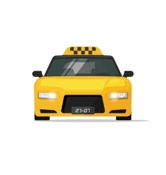 Taxi car cab icon isolated on white vector